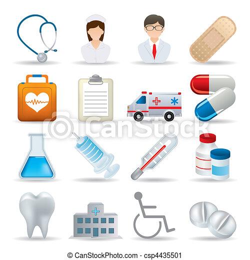 gyakorlatias, orvosi, állhatatos, ikonok - csp4435501