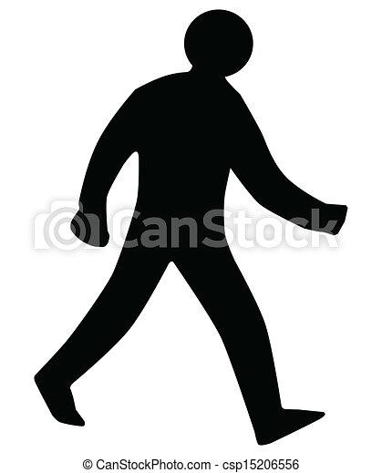 gyalogló, árnykép, ember - csp15206556