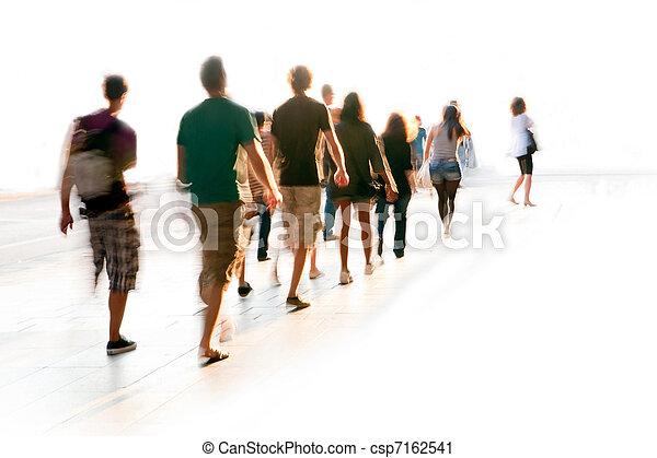 gyalogló, életlen, emberek - csp7162541