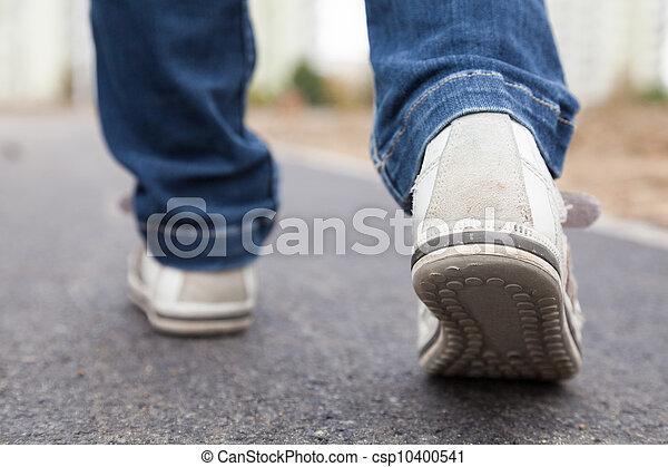 gyalogló, útburkolat, sport cipő - csp10400541