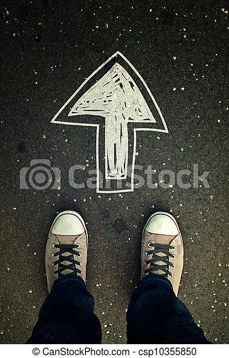 gyalogló, irány - csp10355850