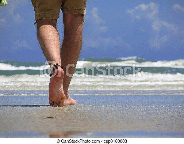 gyalogló, tengerpart - csp0100003