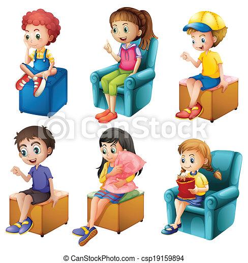 gyerekek, ülés - csp19159894
