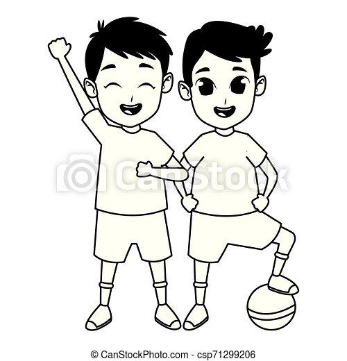 gyerekek, birtoklás, fekete, móka, fehér, játék - csp71299206