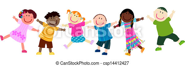 gyerekek, boldog - csp14412427