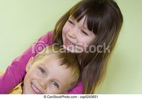 gyerekek, boldog - csp0243651