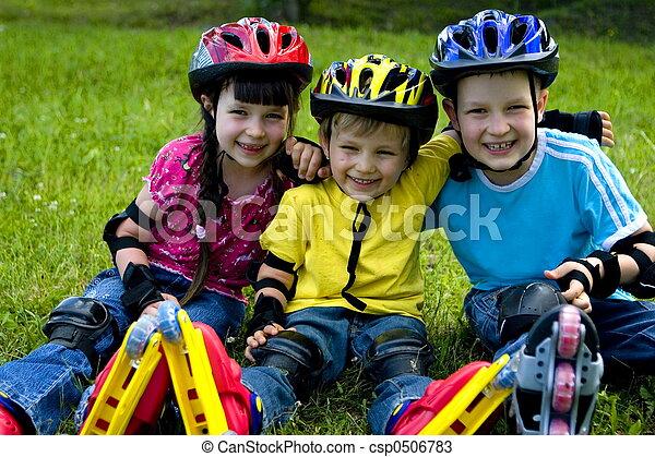 gyerekek, boldog - csp0506783