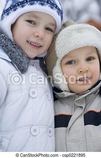 gyerekek, boldog - csp0221895