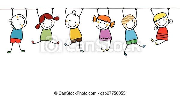gyerekek, játék, boldog - csp27750055
