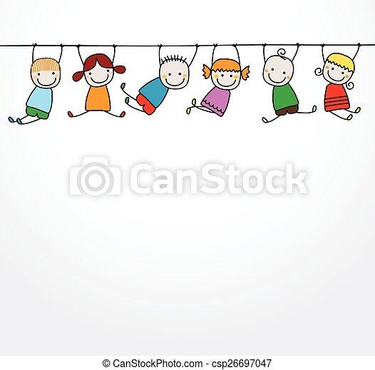 gyerekek, játék, boldog - csp26697047