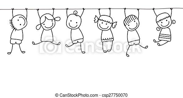 gyerekek, játék, boldog - csp27750070