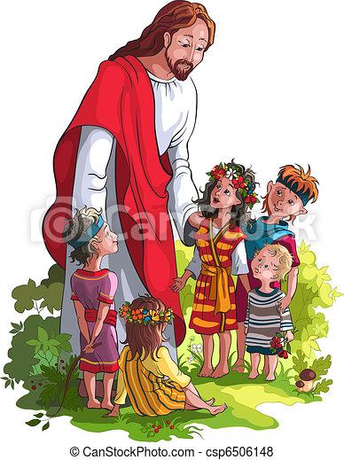 gyerekek, jézus - csp6506148