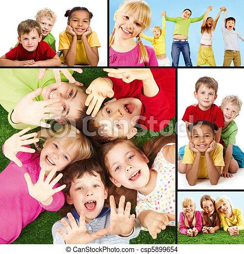 gyerekek, vidám - csp5899654