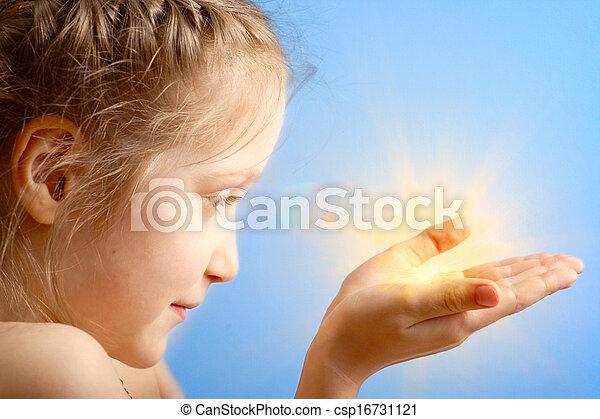 gyermek, birtok, nap - csp16731121