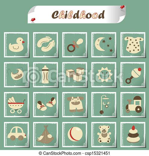 gyermekkor, ikonok - csp15321451