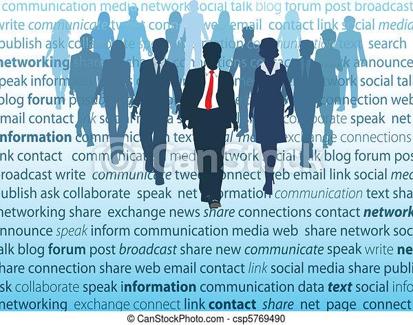 hálózat, ügy emberek, média, társadalmi, fogalom - csp5769490