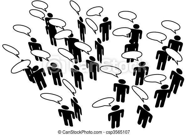 hálózat, emberek, média, közöl, beszéd, összekapcsol, társadalmi - csp3565107
