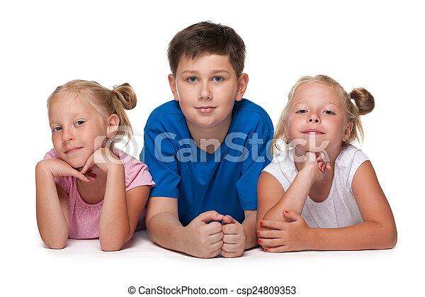 három gyerek - csp24809353