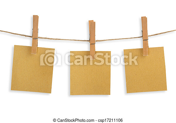 három, ruhaszárító kötél, újra felhasznált, dolgozat, függő, kártya - csp17211106