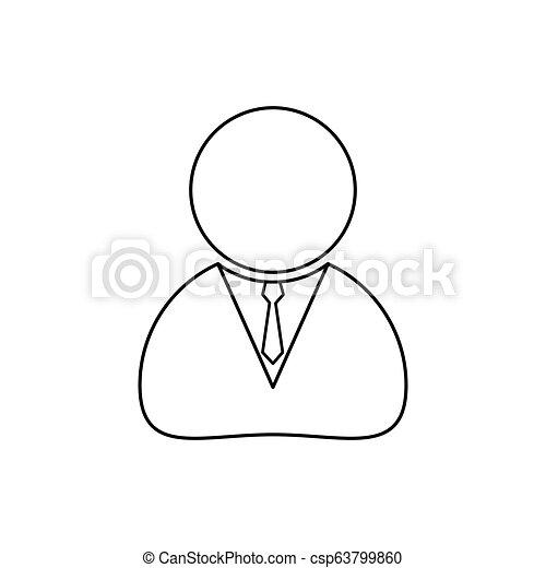 háttér, ügy, egyszerű, elszigetelt, tervezés, emberi, fehér, ikon - csp63799860