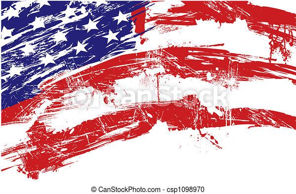 háttér, american lobogó - csp1098970