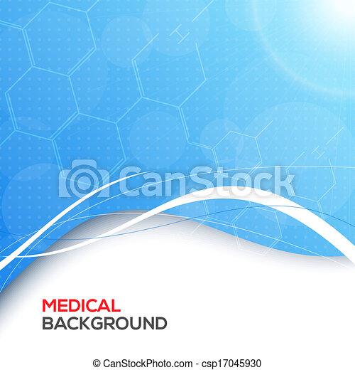 háttér., elvont, orvosi, molekulák - csp17045930