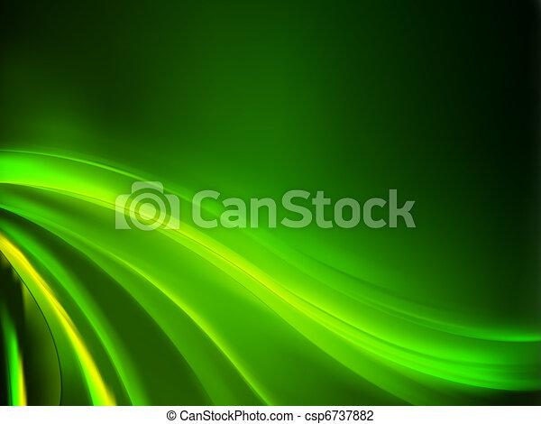 háttér., elvont, zöld, eps, 8 - csp6737882