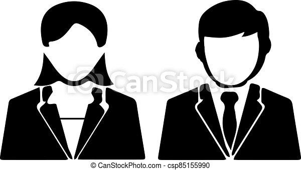 háttér, fehér, ember, ügy, elszigetelt, ikon - csp85155990