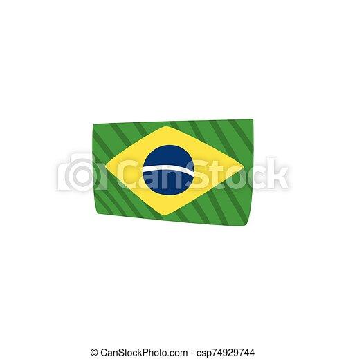 háttér, lobogó, brazília, fehér - csp74929744