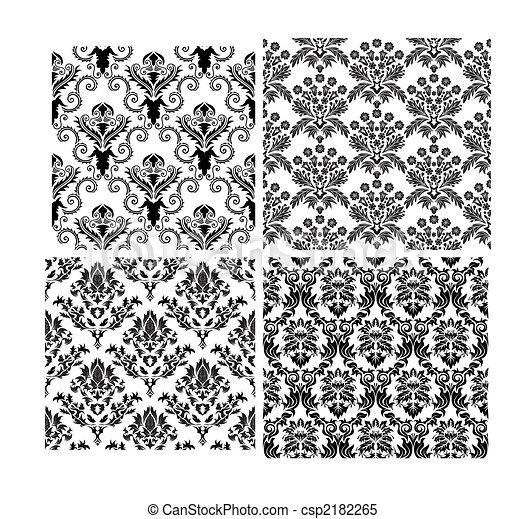háttér, seamless, damaszt, állhatatos - csp2182265