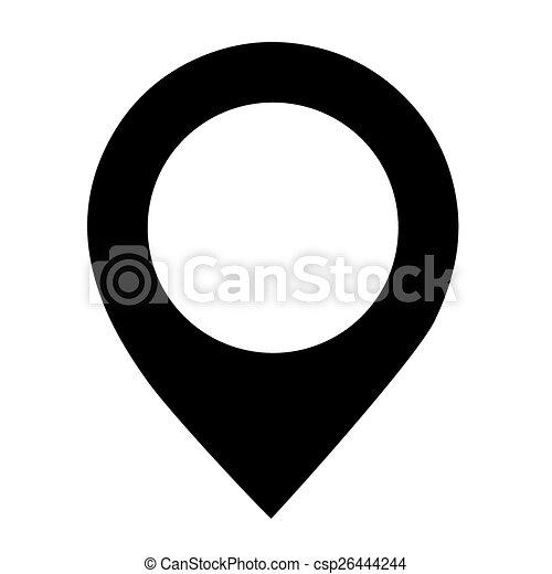 háttér., vektor, fekete, elhelyezés, fehér, ikon - csp26444244