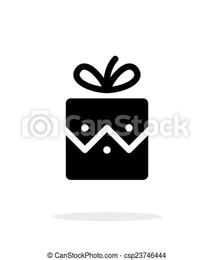 háttér., white christmas, ajándék, ikon - csp23746444