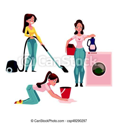 törekszik takarítás és vasalás)