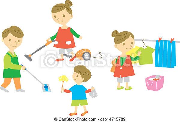 háztartás, család, mosás - csp14715789