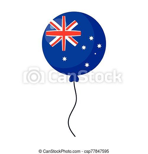 hélium, lobogó, ausztrália, fehér, balloon, háttér - csp77847595