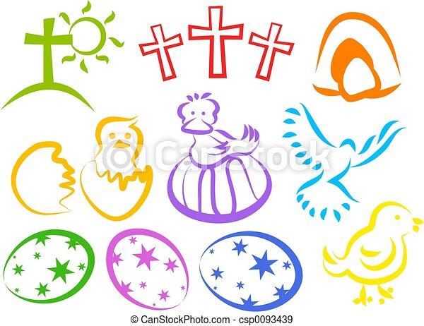 húsvét, ikonok - csp0093439