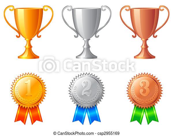hadizsákmány, csészék, medals. - csp2955169