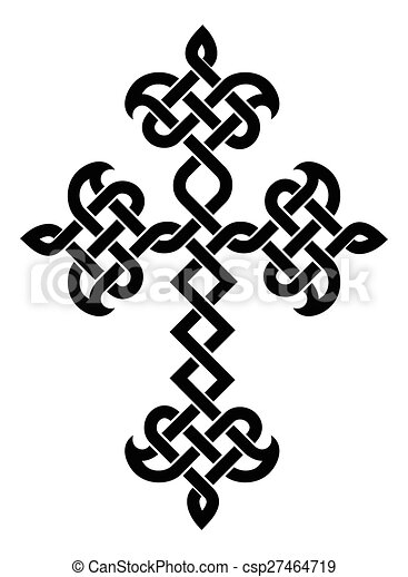 hagyományos, örmény, kereszt - csp27464719