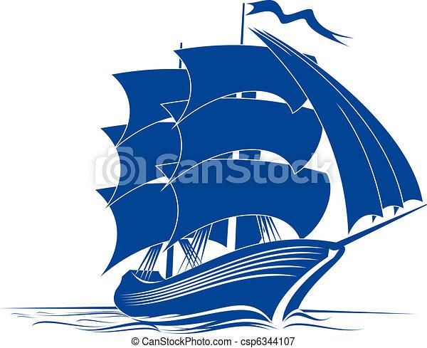 hajó, brigantine - csp6344107