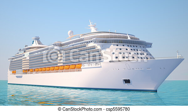 hajó cruise, kilátás, kilátás, óceán - csp5595780