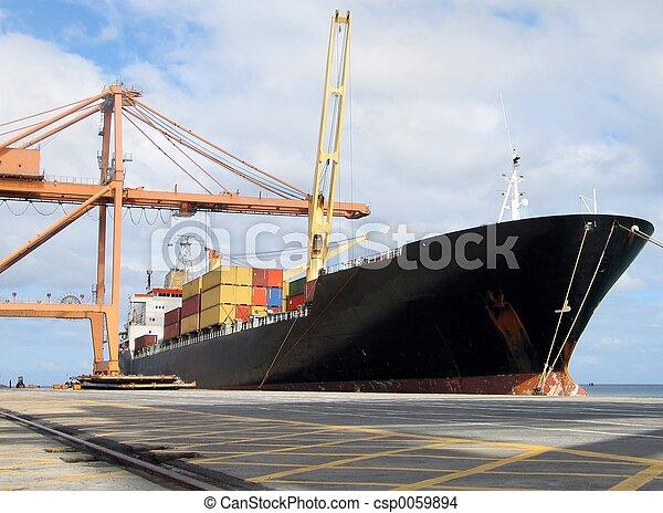 hajó, dokkolt - csp0059894