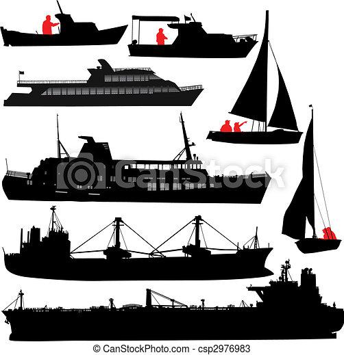 hajó, körvonal - csp2976983