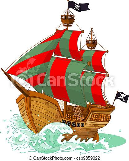 hajó, kalóz - csp9859022