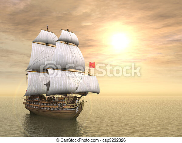 hajó, kalóz - csp3232326