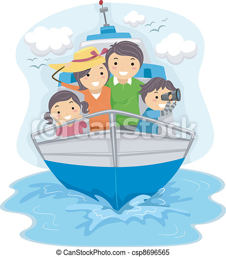 hajó, utazó, család - csp8696565