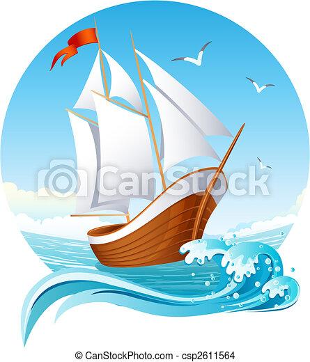 hajó, vitorlázás - csp2611564
