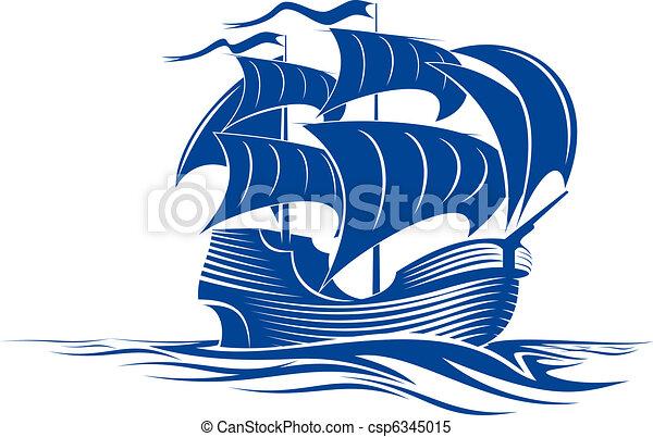hajó, vitorlázik - csp6345015