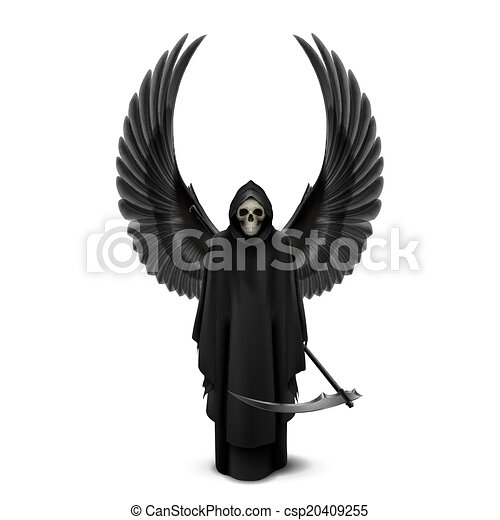 halál, két, angel szárny - csp20409255