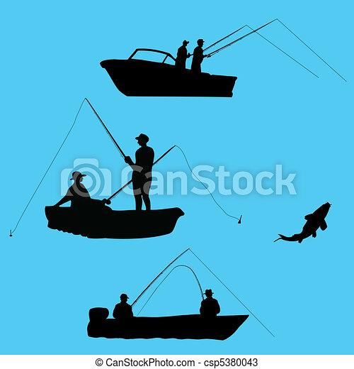halász, csónakázik - csp5380043