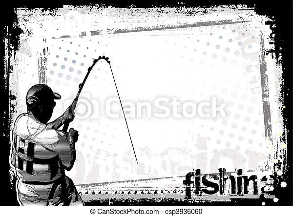 halászat, háttér - csp3936060